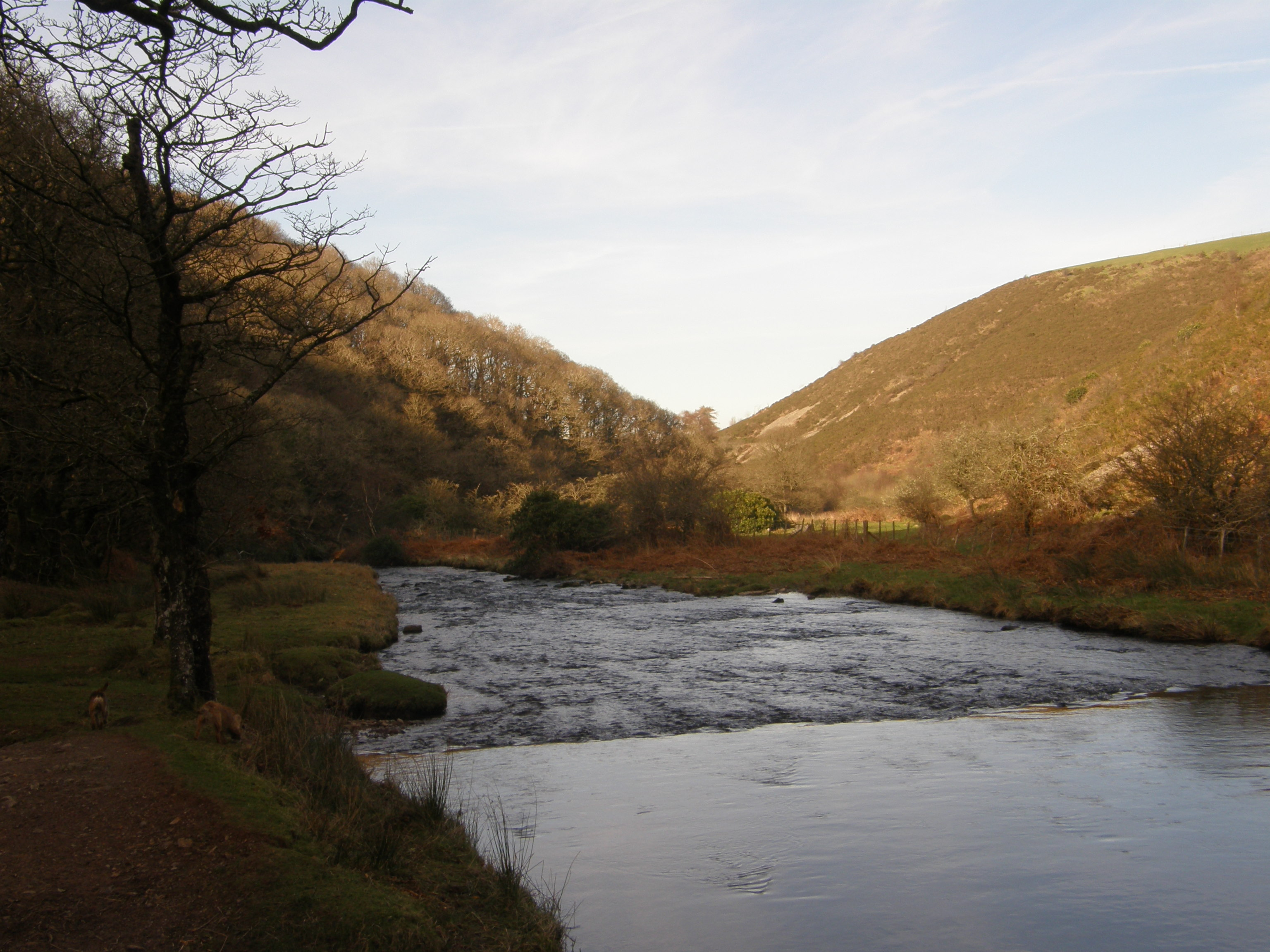 Badgeworthy Water , the Lorna Doone Valley
