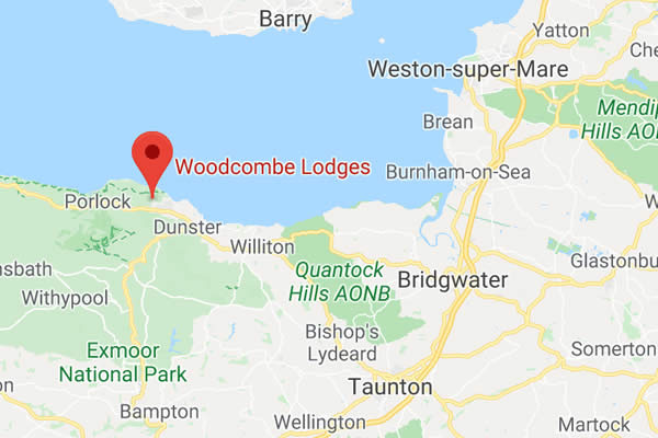 Woodcombe Lodges Map DIrections
