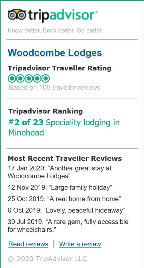 Woodcombe Lodges Trip Advisor Reviews